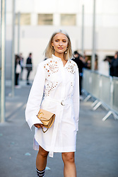 Street style, Victoria Magrath arriving at Chloe spring summer 2019 ready-to-wear show, held at Maison de la Radio, in Paris, France, on September 27th, 2018. Photo by Marie-Paola Bertrand-Hillion/ABACAPRESS.COM