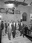 24/08/1984<br /> 08/24/1984<br /> 24 August 1984<br /> Opening of ROSC '84 at the Guinness Store House, Dublin. Mr Pat Murphy guides the visitors around the exhibition. Front (l-r) Mr Pat Murphy, ROSC Chairman; President Patrick Hillery; Maeve Hillery and Lord Iveagh.