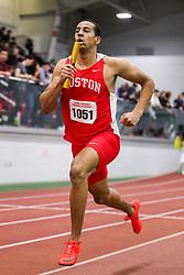 BU Terrier Indoor track meet<br /> 4x400 relay, Boston U, Nikolas Smith