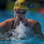 Brenton Rickard, Australia, in action during the Men's 200m Breaststroke heats at the World Swimming Championships in Rome on Thursday, July 30, 2009. Photo Tim Clayton.