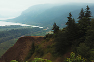 Hazy day at Columbia River Gorge - Oregon