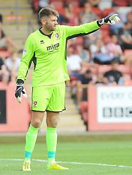 Scott Finders of Cheltenham Town gives orders - Mandatory by-line: Nizaam Jones/JMP - 21/07/2018 - FOOTBALL - Jonny-Rocks Stadium - Cheltenham, England - Cheltenham Town v Birmingham City - Pre-season friendly