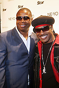 l to r: Dougie Fresh and Kangol Kid  at Ne-Yo's 30th Birthday Party held at Cipariani's on 42 Street on October 17, 2009 in New York City