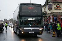Football - 2020 / 2021 Emirates FA Cup - Round Three - Marine v Tottenham Hotspur - Rossett Park<br /> <br /> Marine FC coach arrives outside Rosset Park.<br /> <br /> COLORSPORT/TERRY DONNELLY