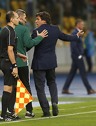 August 24, 2017 - Maritimo head coach Daniel António Lopes Ramos reacts during the Europa League second play-off soccer match between FC Dynamo Kyiv and FC Maritimo, at the Olimpiyskyi stadium in Kyiv, Ukraine, August 24, 2017. (Credit Image: © Anatolii Stepanov via ZUMA Wire)