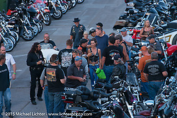 On Main Street in Sturgis during the 75th Annual Sturgis Black Hills Motorcycle Rally.  SD, USA.  August 3, 2015.  Photography ©2015 Michael Lichter.