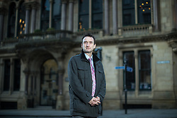 © Licensed to London News Pictures. 15/03/2018. Manchester, UK. The only non-Labour member of Manchester City Council, JOHN LEECH , after hosting a question on answer session for media with Sir Vince Cable on housing, outside the former Reform Club in Manchester City Centre . It's been reported that none of the 14,667 homes in big developments granted planning permission in the city over the last two years are set to be affordable homes. Photo credit: Joel Goodman/LNP