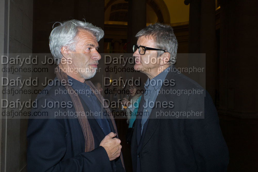 CHRIS DERCON; JAY JOPLING, Opening for Nick Waplington's Alexander McQueen photography exhibition and Christina Mackie's Tate Britain Commission. Tate Britain. London. 23 March 2015