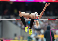 Athletics - 2017 IAAF London World Athletics Championships - Day Two (AM Session)<br /> <br /> Event: High Jump Women - Heptathlon<br /> <br /> Ivona Dadic (AUT) clears the bar  <br /> <br /> COLORSPORT/DANIEL BEARHAM
