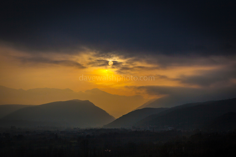 Dusk in the Pyrenees