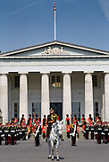 Military cadets at Sovereign's Parade at Sandhurst Royal Military Academy, Surrey, UK.