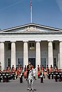 Military cadets at Sovereign's Parade at Sandhurst Royal Military Academy, Surrey, UK.