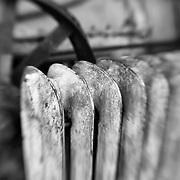 Rusted Radiator - Pottsville - Merlin, Oregon - Lensbaby - Black & White