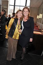Left to right, CLARA WEATHERALL and SARAH, DUCHESS OF YORK at a ladies lunch in support of Maggie's Barts hosted by Judy Naake, Clara Weatherall and Caroline Collins at Le Cafe Anglais, 8 Porchester Gardens, London W2 on 19th March 2013.