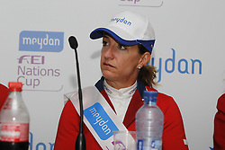 Kraut Laura (USA)<br /> Press conference Meydan FEI Nationscup<br /> CHIO Rotterdam 2010<br /> © Dirk Caremans