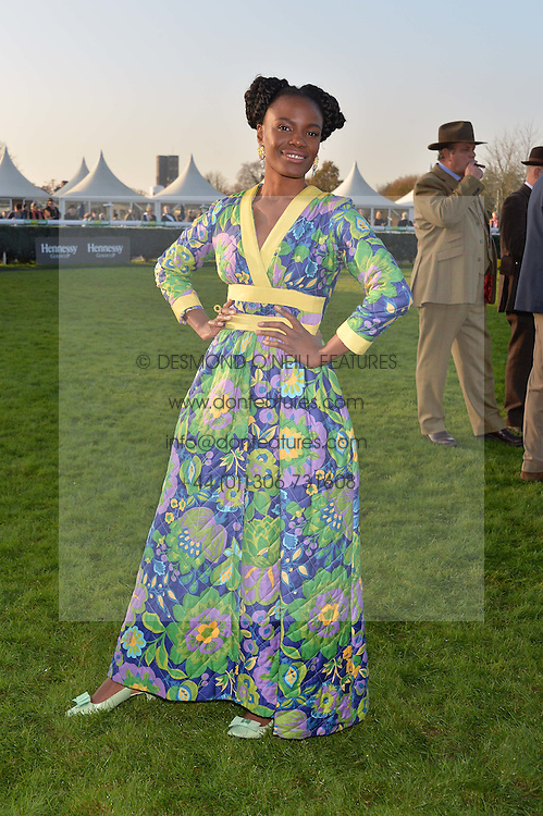 SHINGAI SHONIWA at the 2014 Hennessy Gold Cup at Newbury Racecourse, Newbury, Berkshire on 29th November 2014.  The Gold Cup was won by Many Clouds ridden by Leighton Aspell.