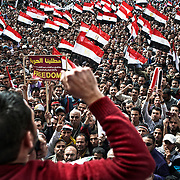 Massive demonstration on Tahrir Square just after President Mubarak's fall. Cairo, Egypt - February 25th 2011.