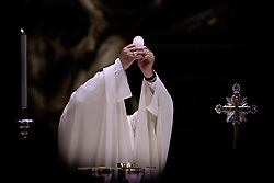 May 23,  2019  - Holy See, Vatican - POPE FRANCIS celebrates holy mass on the occasion of the Caritas General Assembly in St. Peter's Basilica at the Vatican. (Credit Image: © Evandro Inetti/ZUMA Wire)