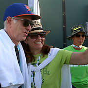 March 13, 2016, Palm Springs, CA:<br /> John McEnroe greets guests at the We Are Tennis BNP Paribas Fan Academy at the Tennis Warehouse Demo Court during the 2016 BNP Paribas Open at the Indian Wells Tennis Garden in Indian Wells, California Sunday, March 13, 2016.<br /> (Photos by Billie Weiss/BNP Paribas Open)
