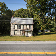 An abandoned home on Jefferson Blvd in Chewsville, Maryland, between Smithsburg and Hagerstown, on Tuesday, September 26, 2017. Originally a District that was mostly rural, but included towns like Frederick and Hagerstown, Maryland's 6th District was redistricted in 2011, combining rural northern Maryland regions with more affluent communities like near Washington D.C. turning the district from Republican to Democrat. <br />  <br /> CREDIT: John Boal for The Wall Street Journal<br /> GERRYMANDER