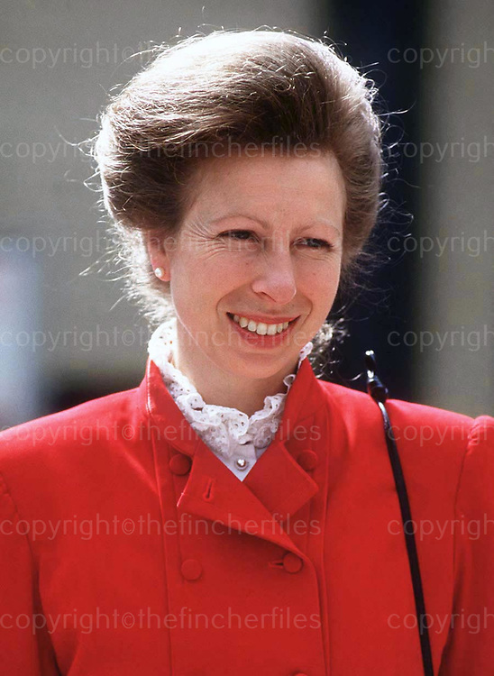 Anne, Princess Royal seen during a visit to Alexandra Palace, London in 1988. Photograph by Jayne Fincher