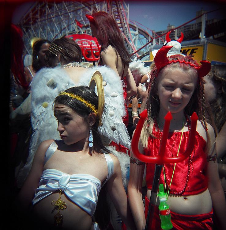 Devil and angel, Mermaid Parade, Coney Island, Brooklyn, 2007