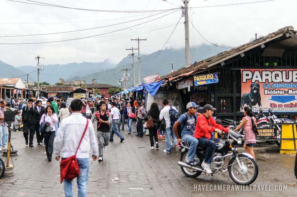 Mercado Municipal, the main market, in Antigua, Guatemala.