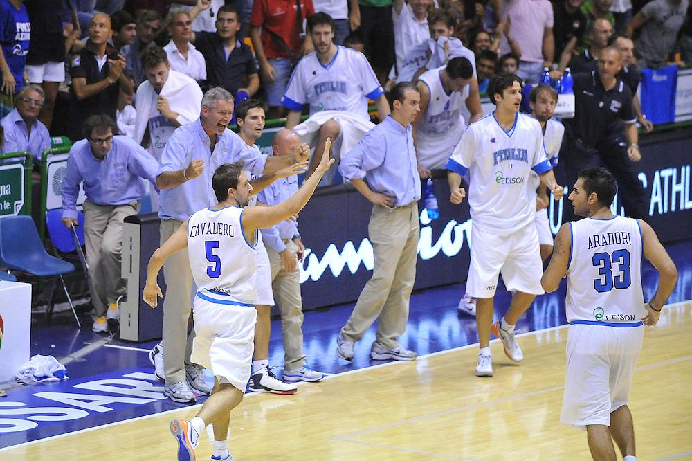 Cagliari, 21/08/2012<br /> Basket, Eurobasket 2013 Qualifying Round<br /> Italia - Turchia<br /> Nella foto: daniele cavaliero, riccardo pittis<br /> Foto Ciamillo