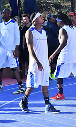 1st Annual ChaCha the Wave and Jaime Foxx Celebrity Basketball Tournament. 17 Feb 2018 Pictured: Jamie Foxx, Tyga, Madison Beer. Photo credit: BLAK-OPS / MEGA TheMegaAgency.com +1 888 505 6342