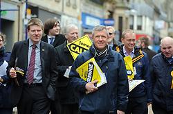 Willie Rennie, Dunfermline, 29-4-2016<br /> <br /> Tim Farron and Willie Rennie meet voters in Dunfermline with James Calder<br /> <br /> (c) David Wardle | Edinburgh Elite media