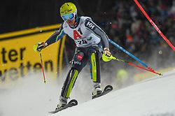 "29.01.2019, Planai, Schladming, AUT, FIS Weltcup Ski Alpin, Slalom, Herren, 1. Lauf, im Bild Mattias Hargin (SWE) // Mattias Hargin of Sweden in action during his 1st run of men's Slalom ""the Nightrace"" of FIS ski alpine world cup at the Planai in Schladming, Austria on 2019/01/29. EXPA Pictures © 2019, PhotoCredit: EXPA/ Erich Spiess"
