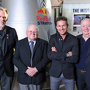 Art Thompson, Tom Crouch, Felix Baumgartner and Joe Kittenger pose for a portrait at The Smithsonian National Air and Space Museum in Washington, D.C., USA on 1 April, 2014.