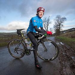 Wilson Renwick, training on his bike