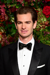 Andrew Garfield attending the Evening Standard Theatre Awards 2018 at the Theatre Royal, Drury Lane in Covent Garden, London