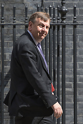 Downing Street, London, May 17th 2016. Culture, Media and Sport Secretary John Whittingdale leaves the weekly cabinet meeting in Downing Street.