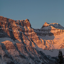 Crowfoot Mountain along the Icefields Parkway at Sunrise