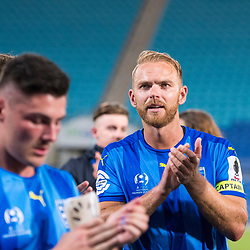 BRISBANE, AUSTRALIA - SEPTEMBER 20: Justyn McKay of Gold Coast City thanks the crowd after the Westfield FFA Cup Quarter Final match between Gold Coast City and South Melbourne on September 20, 2017 in Brisbane, Australia. (Photo by Gold Coast City FC / Patrick Kearney)