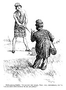 """Well-meaning caddie. """"I can put you right, Miss; But, understand, you'll 'ave to sirrender yerself to me abslootly."""""""