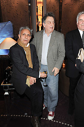 Left to right, HANIF KUREISHI and STEPHEN FREARS at the Liberatum Dinner hosted by Ella Krasner and Pablo Ganguli in honour of Sir V S Naipaul at The Landau at The Langham, Portland Place, London on 23rd November 2010.