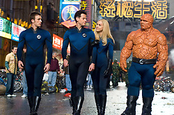 RELEASE DATE: June 15, 2007. STUDIO: 20th Century Fox. PLOT: The Fantastic Four learn that they aren't the only super-powered beings in the universe when they square off against the powerful Silver Surfer and the planet-eating Galactus. PICTURED: CHRIS EVANS as Johnny Storm, IOAN GRUFFUDD as Reed Richards, JESSICA ALBA as Susan Storm, and MICHAEL CHIKLIS as Ben Grimm. (Credit Image: © Entertainment Pictures/Entertainment Pictures/ZUMAPRESS.com)