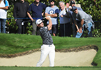 Golf - 2019 BMW PGA Championship - Thursday, First Round<br /> <br /> Matt Wallace of England in a bunker at the 18th hole at the West Course, Wentworth Golf Club.<br /> <br /> COLORSPORT/ANDREW COWIE