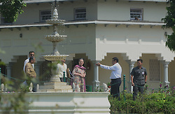 October 9, 2018 - Allahabad, India - Former President of Indian national congress Sonia Gandhi (C) visits Anand Bhavan in Allahabad on October 9,2018  (Credit Image: © Ritesh Shukla/NurPhoto via ZUMA Press)
