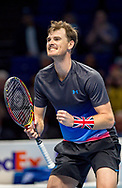 Jamie Murray of Great Britain celebrates his doubles win during the Nitto ATP World Tour Finals at the O2 Arena, London, United Kingdom on 13 November 2018.Photo by Martin Cole