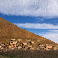 Africa, Morocco, Imlil. Berber village in Atlas Mountains.