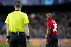 Manchester United's Ashley Young shows his dejection