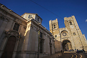 Sé Catedral (Lisbon's Old Cathedral) is the oldest church in Lisbon and is nowadays a mix of different architectural styles. On the left side Saint Anthony's church can be seen.