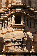 Jainist temple at Jaisalmer Fort, the 'Golden Fort'. It is one of the largest forts in the world. Jaisalmer, Rajasthan, India