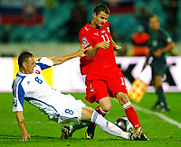 Fotball<br /> Foto: Gepa/Digitalsport<br /> NORWAY ONLY<br /> <br /> FOOTBALL - FIFA WORLD CUP 2010 - QUALIFYING ROUND - GROUP 7 - SLOVAKIA v TSJEKKIA  - 5/09/2009<br /> <br /> Bild zeigt Zdenko Streba (SVK) und Daniel Pudil (CZE)