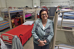 June 12, 2017 - Anaheim, California, USA - Orange County's director of care coordination, Susan Price, who was hired in May 2016 to be the point person on homelessness, at the newly opened Bridges at Kraemer year-round shelter in Anaheim, California, on Monday, June 12, 2017. (Credit Image: © Jeff Gritchen/The Orange County Register via ZUMA Wire)