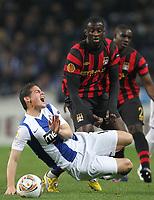 20120216: PORTO, PORTUGAL – UEFA Europa League 2011/2012 - 1/16 Final - 1st Leg: FC Porto vs Man. City.<br /> In photo: JAMES RODRIGUEZ AND TOURE.<br /> PHOTO: PEDRO PEREIRA/CITYFILES